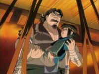 Gantetsu menyelamatkan Akio