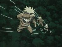 Naruto terkena jarum