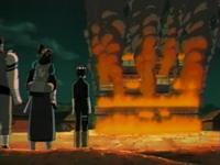markas Shinobazu terbakar