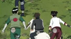 Kiba menjelaskan lawan pada Lee dan Tenten