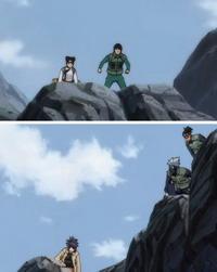 Kakashi dkk berusaha menjebak pasukan batu