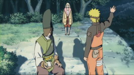 Naruto menyapa Shion