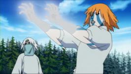 Shizuku mengendalikan naga air
