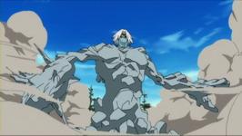 Gitai menjadi raksasa batu