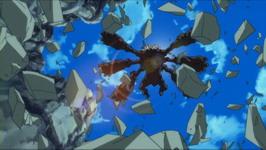 Gitai menyerang diantara reruntuhan batu