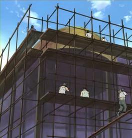 Pembangunan gedung Konoha yang rusak