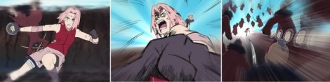 Sakura melempar shishi heiko